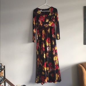 Vintage quirky floral long gown